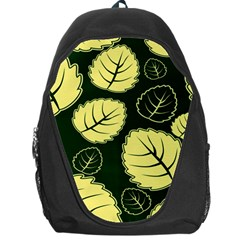 Leaf Green Yellow Backpack Bag by Mariart
