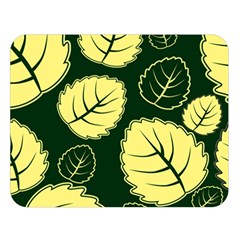 Leaf Green Yellow Double Sided Flano Blanket (large)  by Mariart