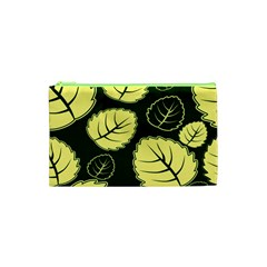 Leaf Green Yellow Cosmetic Bag (xs) by Mariart