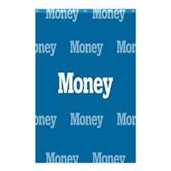 Money White Blue Color Shower Curtain 48  X 72  (small)  by Mariart