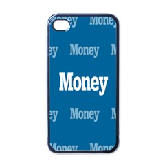 Money White Blue Color Apple Iphone 4 Case (black) by Mariart