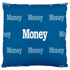 Money White Blue Color Large Cushion Case (two Sides) by Mariart