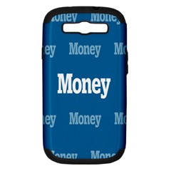 Money White Blue Color Samsung Galaxy S Iii Hardshell Case (pc+silicone) by Mariart