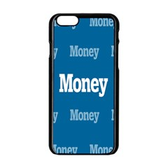 Money White Blue Color Apple Iphone 6/6s Black Enamel Case by Mariart