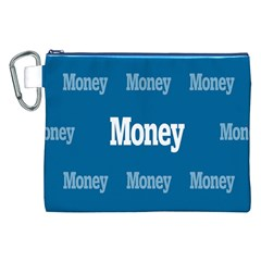 Money White Blue Color Canvas Cosmetic Bag (xxl) by Mariart