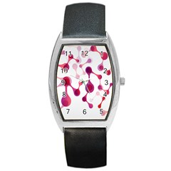 Molecular New Pink Purple Barrel Style Metal Watch by Mariart