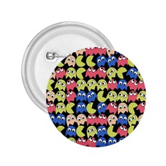 Pacman Seamless Generated Monster Eat Hungry Eye Mask Face Color Rainbow 2 25  Buttons by Mariart