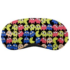 Pacman Seamless Generated Monster Eat Hungry Eye Mask Face Color Rainbow Sleeping Masks by Mariart