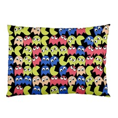 Pacman Seamless Generated Monster Eat Hungry Eye Mask Face Color Rainbow Pillow Case (two Sides) by Mariart