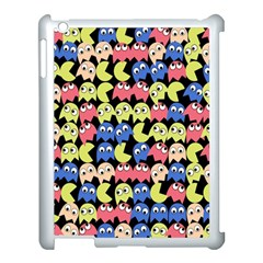 Pacman Seamless Generated Monster Eat Hungry Eye Mask Face Color Rainbow Apple Ipad 3/4 Case (white) by Mariart