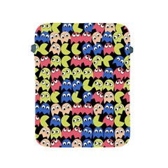 Pacman Seamless Generated Monster Eat Hungry Eye Mask Face Color Rainbow Apple Ipad 2/3/4 Protective Soft Cases by Mariart