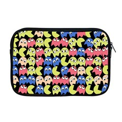 Pacman Seamless Generated Monster Eat Hungry Eye Mask Face Color Rainbow Apple Macbook Pro 17  Zipper Case by Mariart