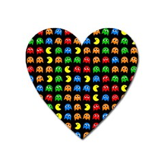 Pacman Seamless Generated Monster Eat Hungry Eye Mask Face Rainbow Color Heart Magnet by Mariart