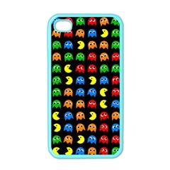 Pacman Seamless Generated Monster Eat Hungry Eye Mask Face Rainbow Color Apple Iphone 4 Case (color) by Mariart
