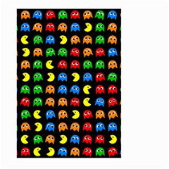 Pacman Seamless Generated Monster Eat Hungry Eye Mask Face Rainbow Color Large Garden Flag (two Sides) by Mariart