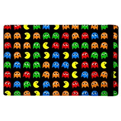 Pacman Seamless Generated Monster Eat Hungry Eye Mask Face Rainbow Color Apple Ipad 3/4 Flip Case by Mariart