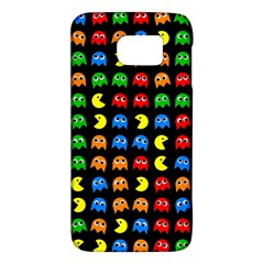 Pacman Seamless Generated Monster Eat Hungry Eye Mask Face Rainbow Color Galaxy S6 by Mariart