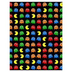 Pacman Seamless Generated Monster Eat Hungry Eye Mask Face Rainbow Color Drawstring Bag (large) by Mariart
