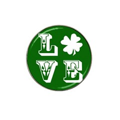 Parks And Tally Love Printable Green Hat Clip Ball Marker (4 Pack) by Mariart