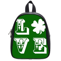 Parks And Tally Love Printable Green School Bags (small)  by Mariart