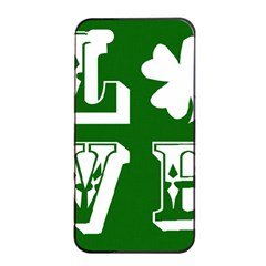 Parks And Tally Love Printable Green Apple Iphone 4/4s Seamless Case (black) by Mariart
