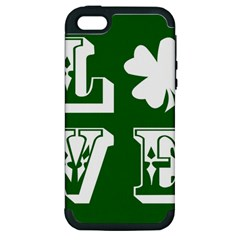 Parks And Tally Love Printable Green Apple Iphone 5 Hardshell Case (pc+silicone) by Mariart