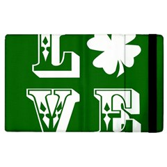 Parks And Tally Love Printable Green Apple Ipad 3/4 Flip Case by Mariart