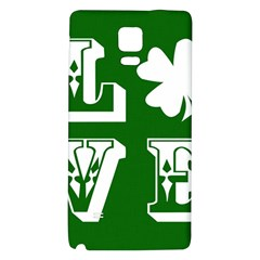 Parks And Tally Love Printable Green Galaxy Note 4 Back Case by Mariart