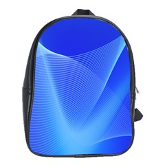 Line Net Light Blue White Chevron Wave Waves School Bags (xl)  by Mariart