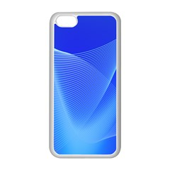 Line Net Light Blue White Chevron Wave Waves Apple Iphone 5c Seamless Case (white) by Mariart
