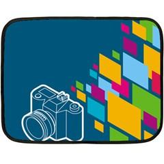 Photography Potraite Panorama Fleece Blanket (mini) by Mariart