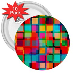 Plaid Line Color Rainbow Red Orange Blue Chevron 3  Buttons (10 Pack)  by Mariart