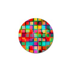 Plaid Line Color Rainbow Red Orange Blue Chevron Golf Ball Marker (4 Pack) by Mariart