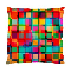 Plaid Line Color Rainbow Red Orange Blue Chevron Standard Cushion Case (two Sides) by Mariart