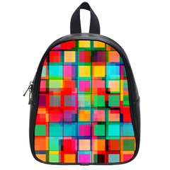 Plaid Line Color Rainbow Red Orange Blue Chevron School Bags (small)  by Mariart