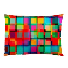 Plaid Line Color Rainbow Red Orange Blue Chevron Pillow Case (two Sides) by Mariart