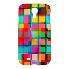 Plaid Line Color Rainbow Red Orange Blue Chevron Samsung Galaxy S4 I9500/i9505 Hardshell Case by Mariart