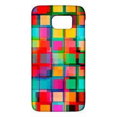 Plaid Line Color Rainbow Red Orange Blue Chevron Galaxy S6 by Mariart
