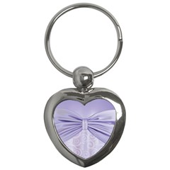 Ribbon Purple Sexy Key Chains (heart)  by Mariart