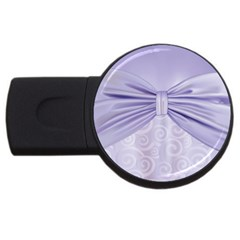 Ribbon Purple Sexy Usb Flash Drive Round (2 Gb) by Mariart