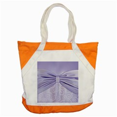Ribbon Purple Sexy Accent Tote Bag by Mariart