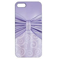 Ribbon Purple Sexy Apple Iphone 5 Hardshell Case With Stand by Mariart