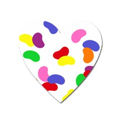 Seed Beans Color Rainbow Heart Magnet by Mariart