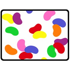 Seed Beans Color Rainbow Double Sided Fleece Blanket (large)  by Mariart