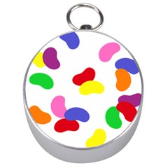 Seed Beans Color Rainbow Silver Compasses by Mariart