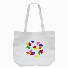 Seed Beans Color Rainbow Tote Bag (white) by Mariart