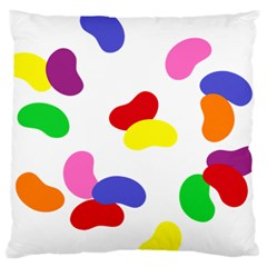 Seed Beans Color Rainbow Large Flano Cushion Case (one Side) by Mariart