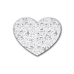 Musical Notes Song Heart Coaster (4 Pack)  by Mariart