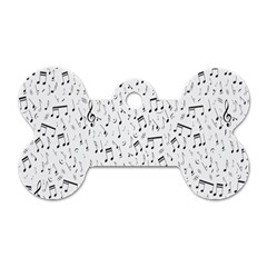 Musical Notes Song Dog Tag Bone (two Sides) by Mariart