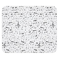 Musical Notes Song Double Sided Flano Blanket (small)  by Mariart